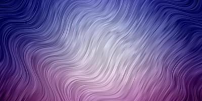 hellrosa, blaues Vektorlayout mit Kreisbogen. vektor