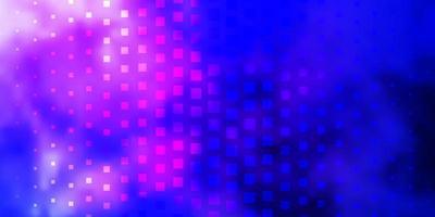 dunkelrosa, blauer Vektorhintergrund mit Rechtecken.
