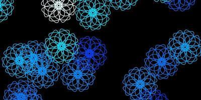 mörkblå vektorbakgrund med kaotiska former.