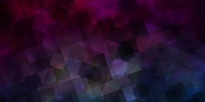 mörkblå, röd vektorbakgrund med linjer, trianglar.