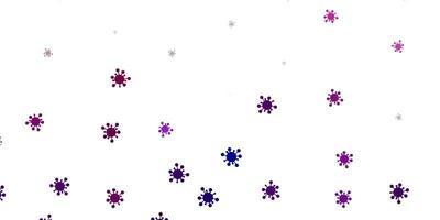 hellrosa Vektorhintergrund mit covid-19 Symbolen
