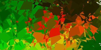 dunkelgrüner, gelber Vektorhintergrund mit zufälligen Formen.