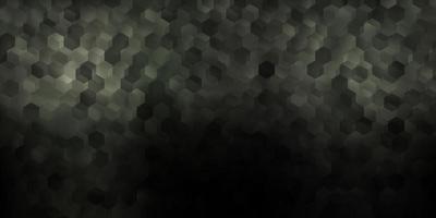 dunkelgrauer Vektorhintergrund mit chaotischen Formen.