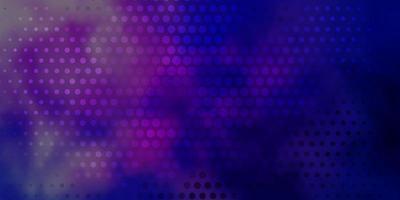 mörkrosa, blå vektormönster med cirklar.