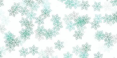 ljusgrön vektor naturlig bakgrund med blommor.