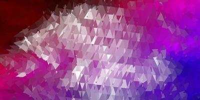 dunkelblaue, rote Vektor geometrische polygonale Tapete.