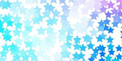 ljusrosa, blått vektormönster med abstrakta stjärnor. vektor