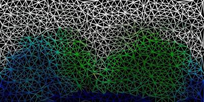 mörkgrön vektor geometrisk månghörnigt tapet.