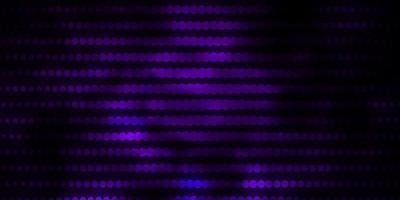 mörk lila vektor layout med cirklar.