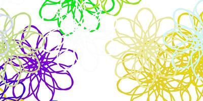 ljus flerfärgad vektor naturligt konstverk med blommor.
