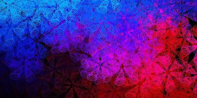 mörkblå, röd vektorbakgrund med fläckar.