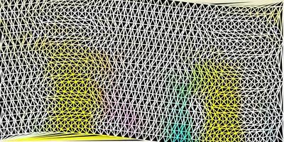 ljus flerfärgat vektor månghörnigt mönster.