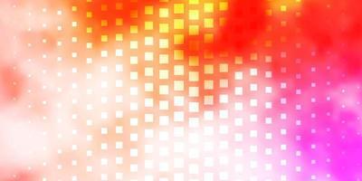ljusrosa, gula vektormall i rektanglar.