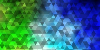 ljusblått, grönt vektormönster med månghörnigt stil. vektor