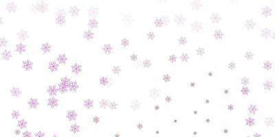 ljusrosa vektor doodle textur med blommor.