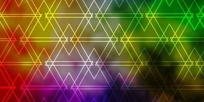 leichtes mehrfarbiges Vektorlayout mit Linien, Dreiecken.