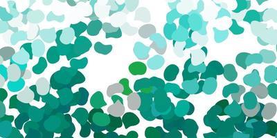 hellgrüne Vektorschablone mit abstrakten Formen.