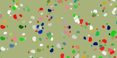 ljus flerfärgad vektorbakgrund med slumpmässiga former.