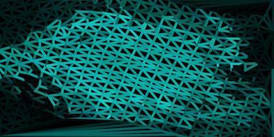 mörkgrön vektor abstrakt triangel bakgrund.