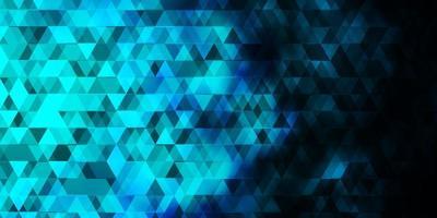 dunkelblauer Vektorhintergrund mit Linien, Dreiecken.