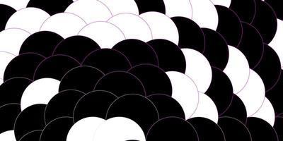 dunkelviolettes, rosa Vektorlayout mit Kreisformen.