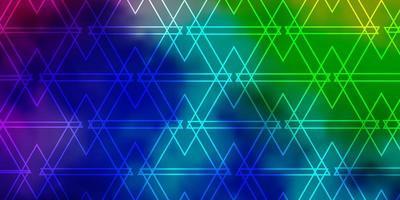 leichtes mehrfarbiges Vektorlayout mit Linien, Dreiecken. vektor