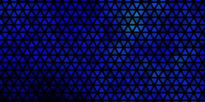 dunkelblaue Vektorschablone mit Kristallen, Dreiecken. vektor