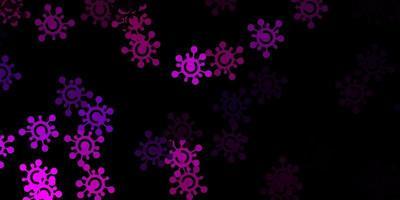 mörkrosa vektormall med influensatecken