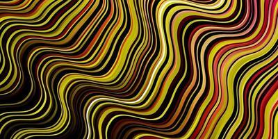mörkrosa, gul vektormall med kurvor.