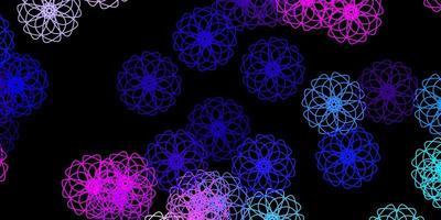 mörkrosa, blå vektorbakgrund med kaotiska former.