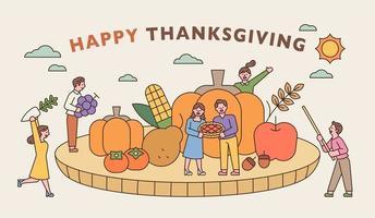 ein Thanksgiving-Banner vektor