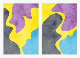 uppsättning handmålade abstrakt akvarell bakgrunder