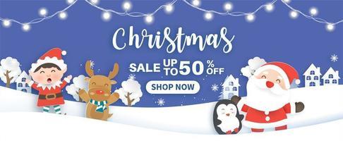 jul försäljning banner vektor