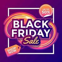 svart fredag försäljning mall vektor