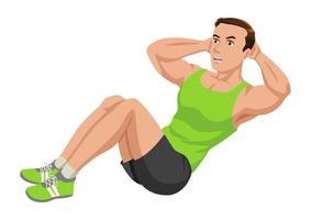 Fitness-Mann trainieren vektor