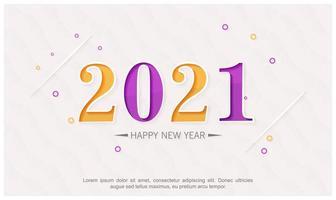 nytt år 2021 abstrakt bakgrundsdesign