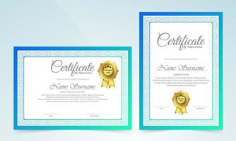 klassische Zertifikatvorlage mit Rahmendesign vektor