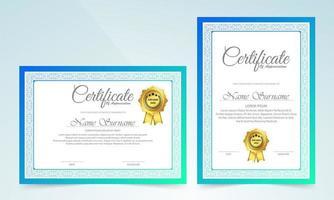 klassisk certifikatmall med ramdesign vektor