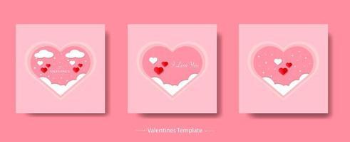 Valentinstag Vorlage Bündel Vektor