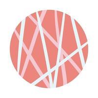 Linien organischer Musterblockstil