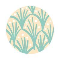 Zweig und Blätter organische Musterblockart
