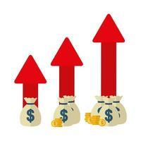 pengar och finansiell ikonuppsättning