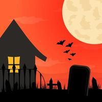 platt design halloween bakgrund vektor