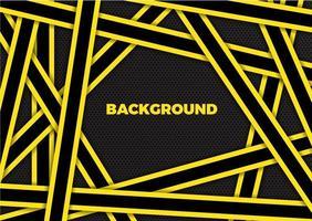 abstrakt bakgrund modern design med överlappande gula och svarta ränder vektor