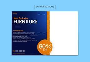 Banner Vorlage für Möbelgeschäft vektor