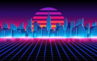 futuristische Stadtlandschaft. Hintergrund des zukünftigen Themenkonzepts. vektor
