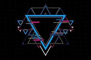 abstrakte futuristische Dreiecksformverbindung. zukünftiges Konzept. Vektor und Illustration