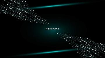 mörkblå glödande kretskort tech bakgrund. vektor teknik digital design