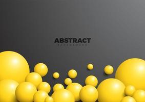 abstrakt geometrisk bakgrund med bollar vektor