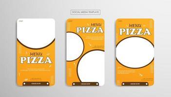 mallar för sociala medier för livsmedelsföretag vektor
